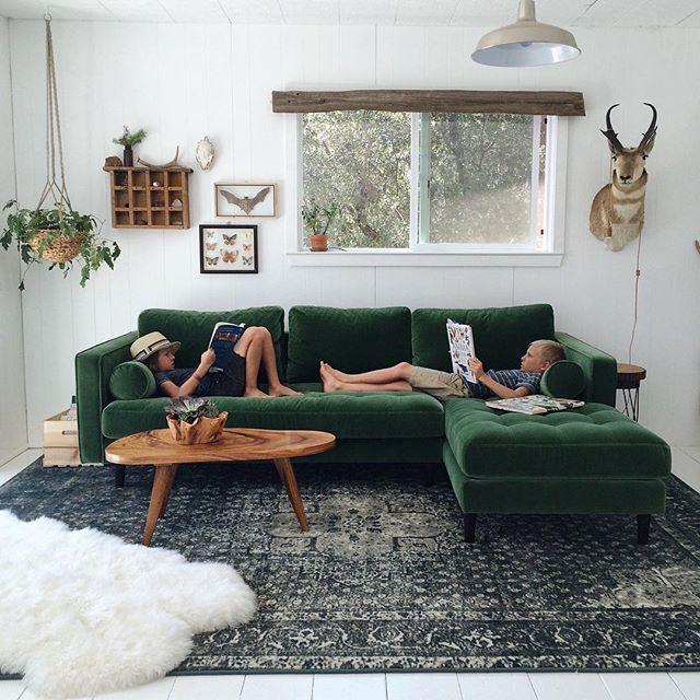 Ideen Zu Sofa In Grun Wohnzimmer Bilder - Design